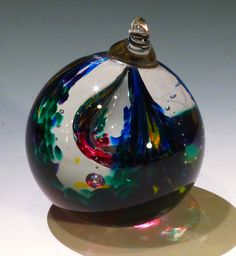 George Watson Blown Glass Witch Ball, an early piece made many years ago.