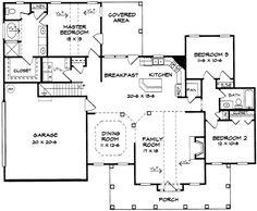 1,694 sq. ft. Plan W36000DK: Vaulted Ceilings