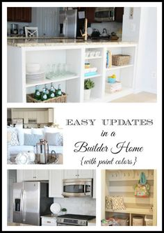 Easy updates in a builder-basic home including paint colors and affordable DIY projects