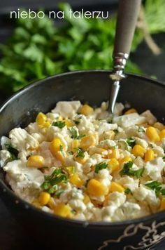 szybka-surówka-z-kalafiora. Raw Food Recipes, Salad Recipes, Diet Recipes, Cooking Recipes, Healthy Recipes, Appetizer Salads, Appetizer Recipes, B Food, Sprout Recipes