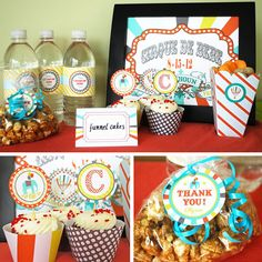 Circus Baby Shower Printable Collection  custom by cardvarkdesigns, $25.00