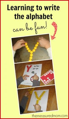 Making handwriting practice fun and the letter Y from @The Measured Mom