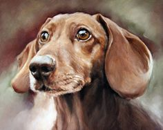 Custom Pet Portrait Oil Painting Pet Portrait by cmqstudio on Etsy