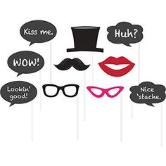 Chalkboard Photo Booth Props | 10