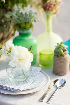 Seashore  Succulent Tablescape Inspiration