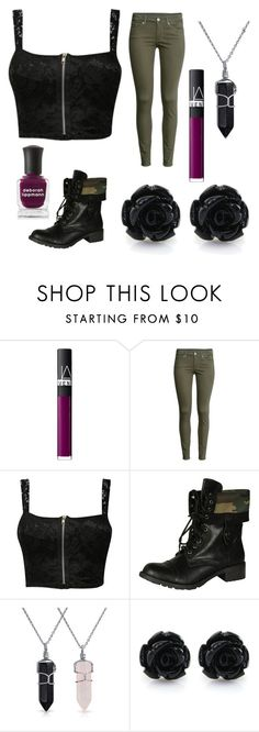 """""""Midnight Scent"""" by theblackswann ❤ liked on Polyvore featuring NARS Cosmetics, H&M, Pilot, Soda, Bling Jewelry, Deborah Lippmann, outfitideas and fallwinter2015"""