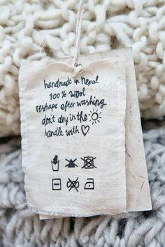 Idée étiquette à faire au feutre textile