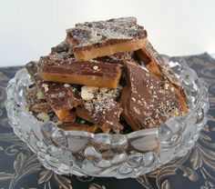 This looks so easy.  I love english toffee.  This is going to be my present to myself this year.