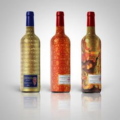 Designer: Azadeh Gholizadeh  Project Type: Concept  Location: Iran  Packaging Contents: Wine  Packaging Materials: Glass bottle with alumi...