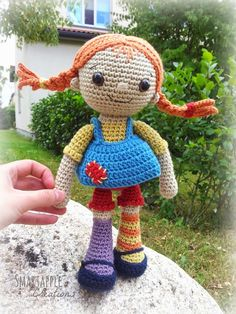 Smartapple Creations - amigurumi and crochet: Another Pippi Longstocking doll ♡