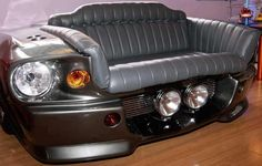 Shelby Mustang GT 500 sofa / couch for the man cave or garage Car Part Furniture, Automotive Furniture, Automotive Decor, House Furniture, Custom Couches, Auto Retro, Man Cave Garage, Shelby Gt500, Man Caves