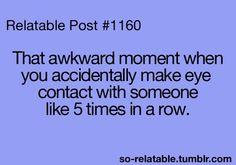 Hahahaha O my word sooo awkward!