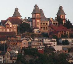 The Andafiavaratra Palace, located on the highest hilltop of the capital city of Antananarivo, was the residence of Prime Minister Rainilaiarivony of Madagascar, who governed the island kingdom in the late 19th century.