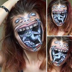 Idée de maquillage terrifiant pour Halloween