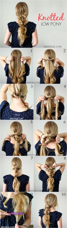 With a French braided tie back or Dutch French braid tie back (if you have bangs)
