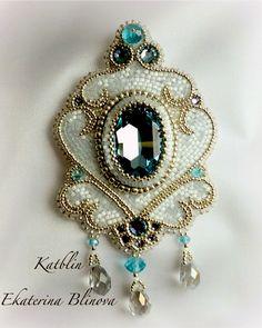 Beautiful embroidered jewelry by Kate Blinova | Beads Magic