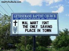 Church Sign - Walmart