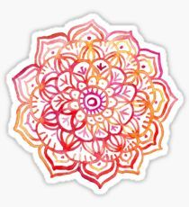 Watercolor Medallion in Sunset Colors Wall Tapestry by micklyn Watercolor Mandala, Watercolor Sunset, Sunset Art, Sunset Colors, Watercolor Ideas, Tattoo Watercolor, Zentangle, Hand Sticker, Watercolor Stickers