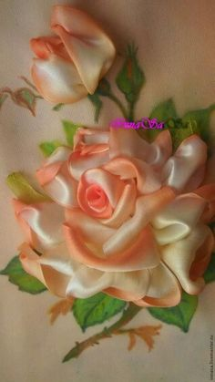 Wonderful Ribbon Embroidery Flowers by Hand Ideas. Enchanting Ribbon Embroidery Flowers by Hand Ideas. Learn Embroidery, Rose Embroidery, Embroidery Patterns, Embroidery Stitches, Embroidery Supplies, Japanese Embroidery, Embroidery Techniques, Machine Embroidery, Ribbon Art