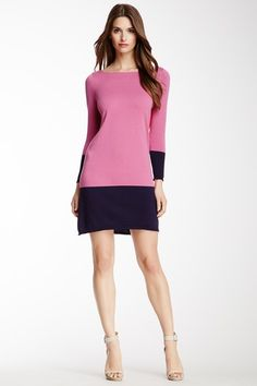 Boatneck Colorblock Tunic Dress by Magaschoni on @HauteLook