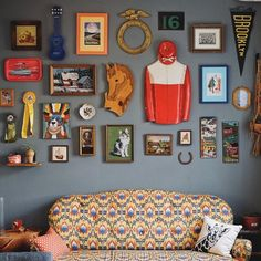 Colorful gallery wall | Tim Lampe | VSCO