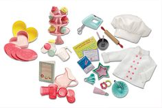 Baking Set | Our Generation Dolls.adorable! compare to the AG sugar and spice baking set. alot cheaper!