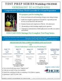 TExES Early Childhood through Grade 6 Test Prep Sessions