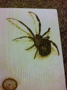 3D spider wood burning