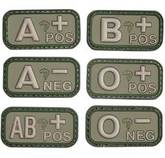 Viper Tactical Blood Group Type Morale Patch is an essential item for private military contractors for medical/trauma purposes in the field.