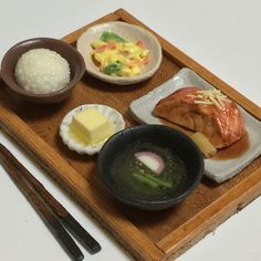 『和食屋さんの定食』■金目の煮付け・お吸い物など■ミニチュアフード