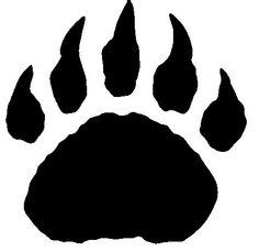 Gallery For > Bear Claw Stencil