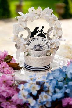 Wedding cake topper- silhouette