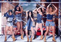 Fifth Harmony Take 'Work From Home' to 'Britain's Got Talent' - Watch It!: Photo Fifth Harmony flip their hair while dancing during a performance on Britain's Got Talent on Thursday night (May in London, England. The ladies of - Ally… Ally Brooke, Simon Cowell, Little Mix, Sassy Girl, My Girl, Fifth Harmony Members, Fith Harmony, Britain's Got Talent, Whatever Forever