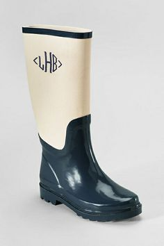 Monogram rain boots