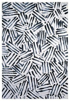 Black & White by Jasper Johns #print #pattern