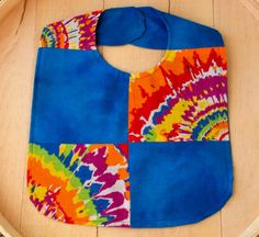 Patchwork Design Tie Dyed Print Infant Bib by Bonniebabyboutique on Etsy