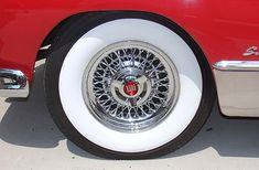White Wall Tyres add a bit of class to any car. Check out our tyres for Classic and Vintage Vehicles today! White Walls, Vintage Cars, Vintage Fashion, Wire Wheels, Classic, Modern, Rat Rods, Buick, 1950s