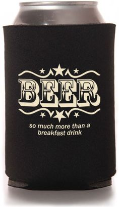 Escape Craft Brewery's coffee stout is breakfast in a glass! Customizable Beer Koozie Designs #beer #koozies