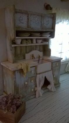 Miniature Dollhouse KITCHEN SINK - Miniatura lavello da cucina di…