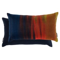 Harlequin Cushions - Filled Cushion Amazilia Velvets Mustard/indigo 35cm X 60cm