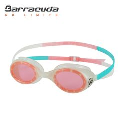 Barracuda Junior Swim Goggle AQUACIRCUS - Glow-in-the-Dark One-piece Frame Soft Seals, Anti-fog UV protection, Easy Adjusting Comfortable Quick Fit No leaking for Kids Children ages 6-12 (#51125)