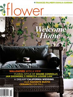 One of our very favorite magazine's, FLOWER< has included us and our new Kristi Tray in the October issue.  Love this magazine! #flowermagazine  #favoritemagazine