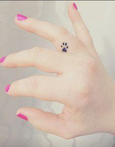 Finger Tattoos Paw Print