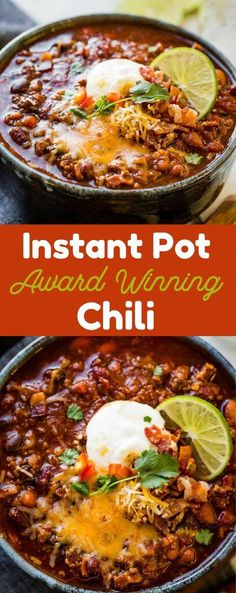 We recently attended a chili cook-off which kicked my obsession with finding an Instant Pot Award Winning Chili Recipe into high gear. pot recipes chili The BEST Instant Pot Chili {Award Winning} Recipe - Oh Sweet Basil Crock Pot Recipes, Chilli Recipes, Beef Recipes, Cooking Recipes, Crock Pot Chili, Crock Pot Chilli Recipe, Quick Chili Recipe, Chili Recipe Crockpot Best, Cooking Pork