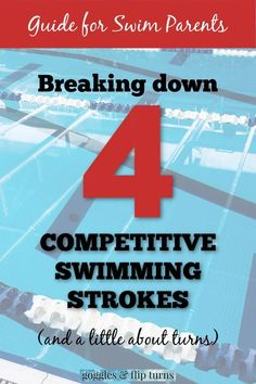 Swim team parents: Learn all about the four competitive swimming strokes, common reasons for disqualifications in each stroke, a little about turns, and what IM really stands for. Swimming Drills, Competitive Swimming, Swimming Tips, Kids Swimming, Swimming Coach, Teach Kids To Swim, Learn To Swim, Swimming Workouts For Beginners, Swim Workouts