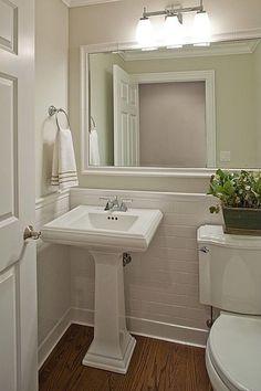 58687601367180980 Hardwood, Pedestal, Crown molding, Cottage, Powder/Half Bath