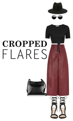 """Cropped Flares"" by miskamalecova ❤ liked on Polyvore featuring Barbara Casasola, Glamorous, ALDO, Forever 21, Kara, women's clothing, women's fashion, women, female and woman"