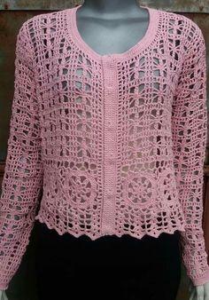 How to Crochet a Bodycon Dress/Top Cardigan Au Crochet, Crochet Shrug Pattern, Granny Square Crochet Pattern, Crochet Jacket, Crochet Cardigan, Knit Patterns, Crochet Stitches, Pull Crochet, Knit Crochet