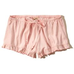 Girls Ruffle Hem Knit Shorts (215 BRL) ❤ liked on Polyvore featuring shoes