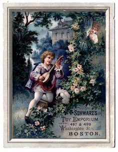 Antique Christmas Graphics - Musical Advertising - The Graphics Fairy